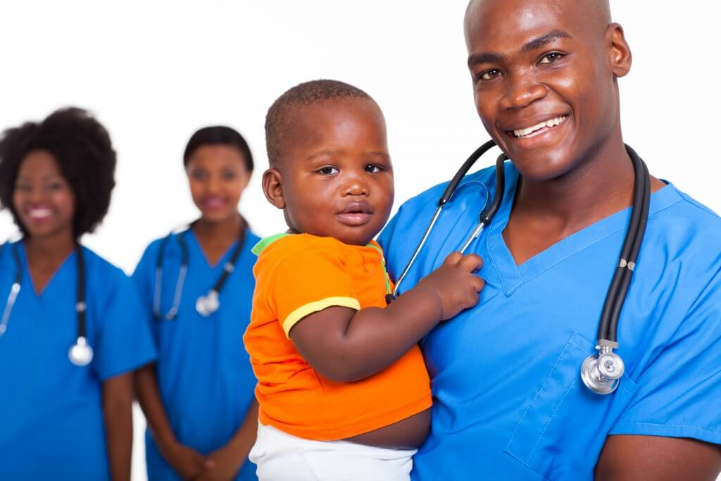 pediatric doctor with little boy
